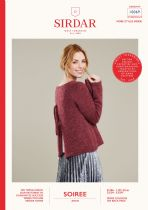 Sirdar Soiree Aran Knitting Pattern Booklet - 10069 Jumper with Back Detail